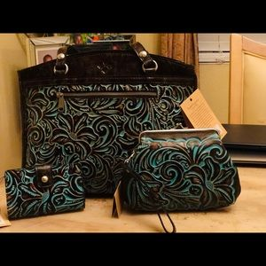 (3) Piece Patricia Nash Tooled Turquoise Set (NWT)